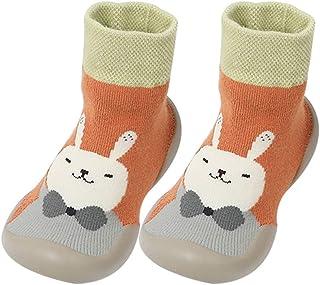 Fnsky, Calcetines para bebé, antideslizantes, cálidos, calcetines para el suelo, bonitos zapatos de invierno para bebé niño y niña