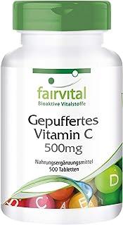 Vitamina C 500mg - VEGANA - Vitamina C no ácida en forma