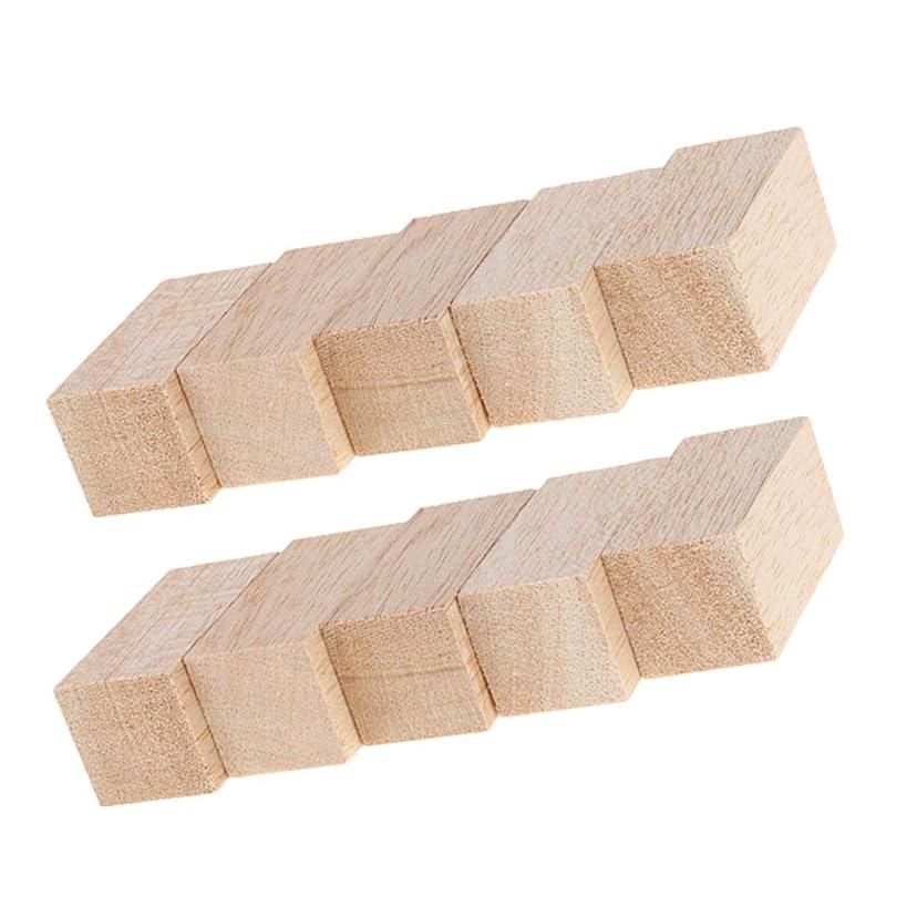 扇動ガイダンス最高10個 バルサブロック 木製 未完成 工作材料 DIY 角材 手芸用 趣味 工芸品