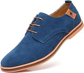 Hombre Zapatos Oxford Cordones Informal Negocios Boda Calzado Estilo Británico Comodidad Derby Cuero 38-48