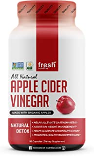 Apple Cider Vinegar Capsules Pills for Weight Loss Strongest 1500mg per Serving - Certified Organic Vegan Friendly -Digestion & Weight Management - Leg Cramps & Pain - Unsettled Stomach & Sore Throats