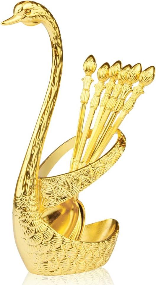 Coffee Tucson Mall Max 43% OFF Spoon Kit Gold Creative Set Swan B Decorative Dinnerware