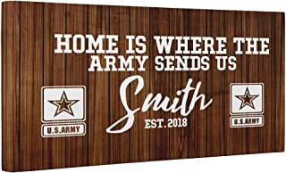 Home Is Where The Army Sends Us CANVAS Wall Art