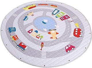 Sponsored Ad – Home Canvas Kids Area Rugs, Baby Play Mats, Cartoon Animal Round Carpet Cute Large Crawl Mat Toys Storage B...