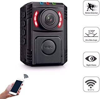 Body Cameras for Law Enforcement - Body Cameras with Night Vision - Small Police Body Camera - HD 1080P Motion Detection - Mini Body Worn Camera - WiFi Wireless Security Personal Camera with Phone App