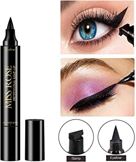 Eyeliner Stamp - Eye Wingliner by Angel Kiss- Double-Ended Stamp Liquid Liner,Vogue Effects Black,Waterproof Make Up, Smudgeproof,Winged Long Lasting Liquid Eye liner Pen,Vamp Style Wing - Single