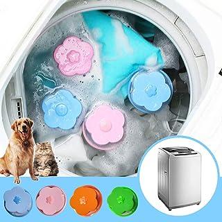 4 Pieces Lint Catcher Laundry Reusable Washing Machine Lint Trap Floating Hair Fur Catcher Laundry