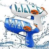 Ucradle Pistola de Agua, 2 Pack Pistola Agua Juguete Blaster de Agua Juego de Pistola Diversión Acuática Verano Juguetes de Agua Juego, Jardín, Playa, Piscina Al Aire Libre,niño, Adulto