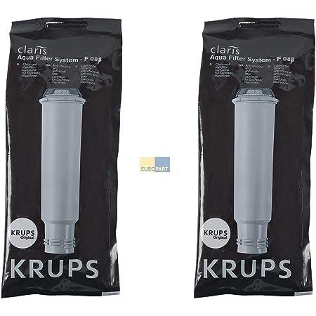 Lot de 2 cartouches filtrantes Krups Claris F088 pour machine à café