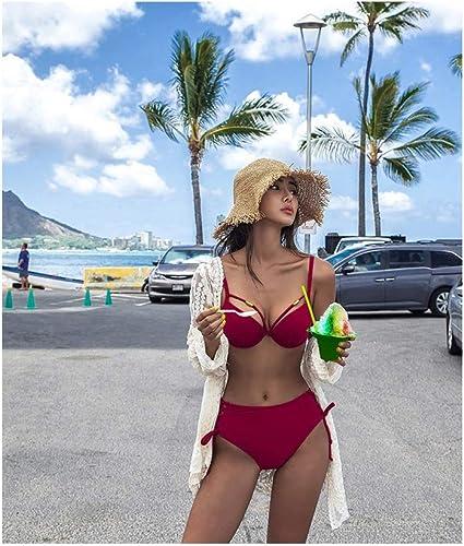 WING Bikini Femme 2 Pièces Sexy Soucravaten-Gorge Taille Haute Push Up Stbague Africain Soucravaten-Gorge Plage Ensemble maillot de bain 2019