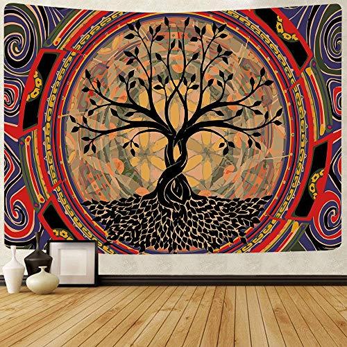 KHKJ Tapiz psicodélico de Hongos, Tapiz Colorido Abstracto Trippy, tapices para Colgar en la Pared para el hogar, Dormitorio, decoración de fantasía A17 95x73cm