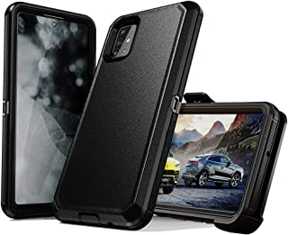 Samsung Galaxy A71 case,Heavy Duty Hard Shockproof Protector Shield Case Cover with Belt Clip Holster for Samsung Galaxy A...
