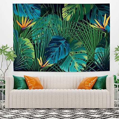 Miueapera 40x28 inch Aquarel Tropische Bladeren Wandtapijten Polyester Groene Bladeren Bladeren Hangende Woonaccessoires Voor Wanddecoratie Plafondbekleding Gordijn Scheidingswand Gift Voor Familie