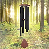 Wind Chimes Outdoor Large Deep Tone, Memorial Wind Chimes Outdoor Gifts for Housewarming/Mother Day/Christmas, Wind Chimes for Outside Decoration, Patio, Garden, Yard (44 Inch Black Wind Chime)