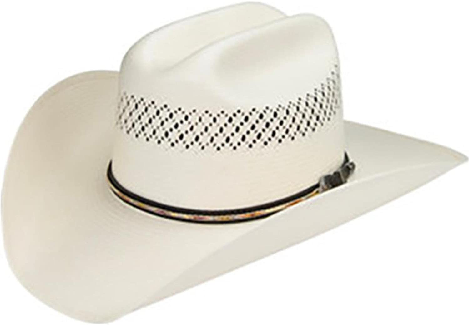 Master Hatters Men's Air Scottsdale 20X Straw Vented Cowboy Hat Natural 7 3/8