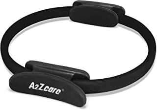 A2ZCARE Pilates Ring-Magic Circle, Gym, Aerobics, Pilates, Yoga for Toning and Strengthening Thighs, Abs and Legs-(12-inch...