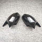 WZJFZPL Coppia Tappi Copri specchietto retrovisore Stile Cornuto Adatto, per BMW E81 E82 E87 E88 E90 E91 E92 E93 2004~2013
