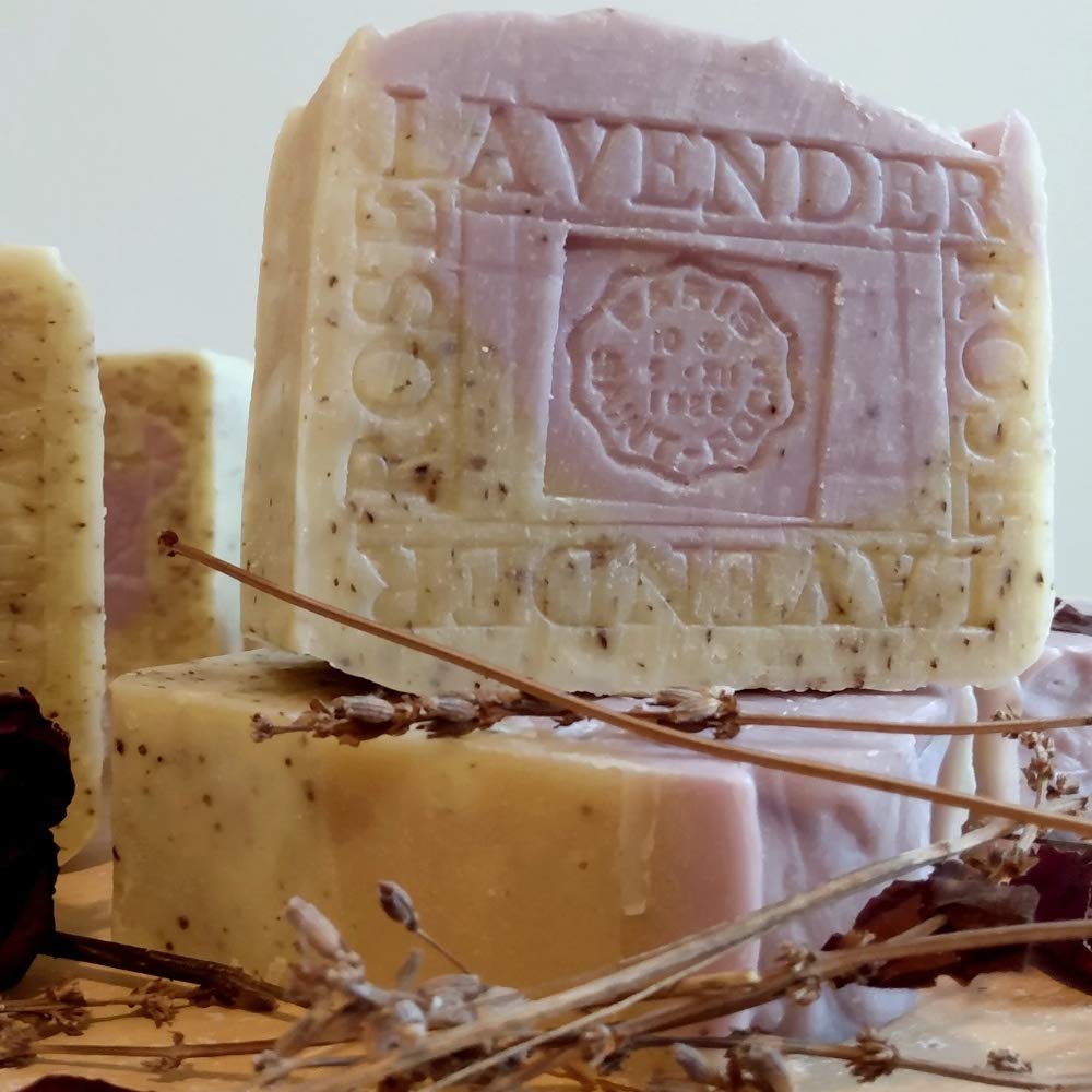 Artisan Lavender Cheap mail order shopping Rose Soap Bar- Handcrafted With Crushed R 7+ oz Max 41% OFF