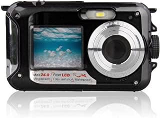 Andoer Waterproof Digital Camera Underwater Camera Video Recorder Selfie Dual Screen DV Recording Camera