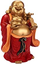 Home Accessories Home Decor Happy Buddha Statue,Buddha Collectible Figurine,Wealth Lucky Statue Decoration Gifts-Red 9.8Inch