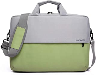 Laptop Bags 15.6 Inch Waterproof and Shockproof Shoulder Male and Female Business Laptop Notebook Bag(Color:Green,Size:15.6 Inch)