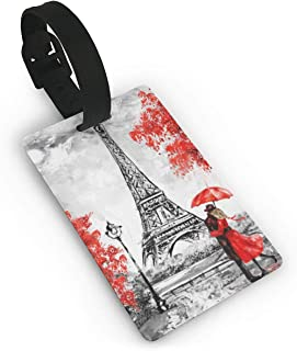 Eiffel Tower Paris Love Couple Luggage Identification Tag Suitcase Label Bag Travel Accessories For Men Women