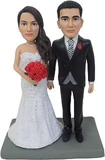 bambole di argilla scolpita a mano in pasta polimerica adorano topper cake miniature in miniatura di natale mini figurine