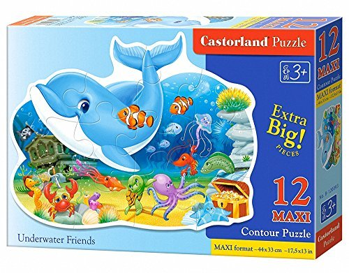 Castorland Premium Maxi Underwater Friends Jigsaw Puzzle (12-Piece, Multi-Colour) by Castorland