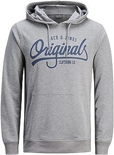 Jack /& Jones Designer Print Logo Sweatshirt Pullover Hoodie