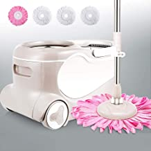 Floor Mop Hand-Free Household Double Drive Wet and Dry Clean Microfiber Spin Mop Bucket Set for Floor Home Cleaning Tool
