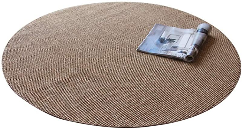 YANGBM Hand Stitched Round Sisal Carpet Study Living Room Dining Table Swivel Mat Used For Bathroom Entrance Door Size 100cm