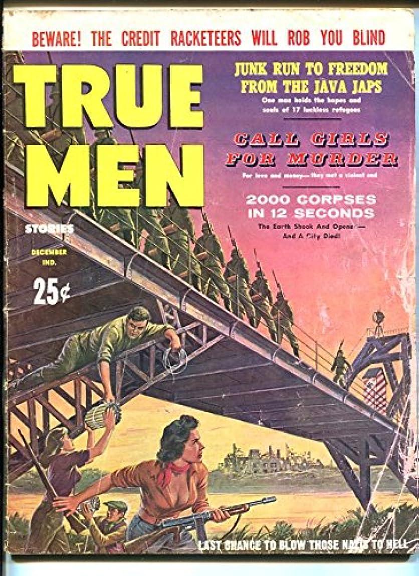 TRUE MEN-DEC 1960-NAZI-BRIDGE EXPLOSION-SPICY GOOD GIRL ART-CHEESECAKE-fr/g khlpudu386036