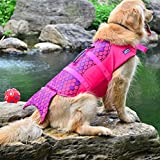 Xiaoyu Chaleco Salvavidas para Perros, Chaleco Salvavidas Ajustable para Mascotas, Salvavidas para Mascotas, Chaleco Salvavidas para Nadadores Principiantes, Rosa, S