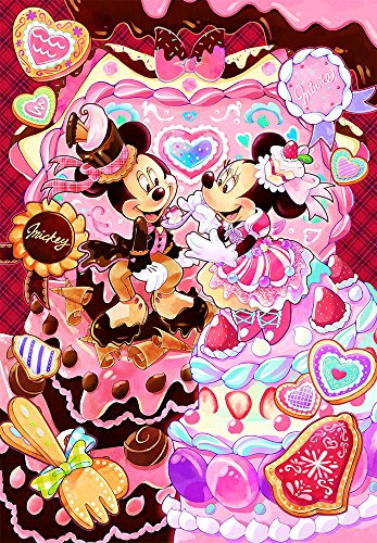 500ピース ジグソーパズル ディズニー メルティー スイーツタイム ぎゅっとシリーズ 【ピュアホワイト】(25x36cm)