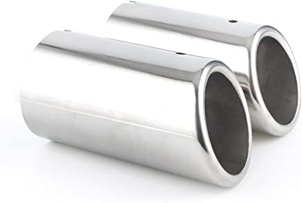 Car Van Exhaust Tip Muffler Replacement Chrome Tail Pipe 39mm-49mm