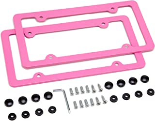 Best license plate frame pink Reviews