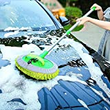 yummyfood Chenille Car Wash Mop Telescopic Car Wash Brush Long Handle Cleaning Brush For Car Wash, Glass Cleaning, Mopping