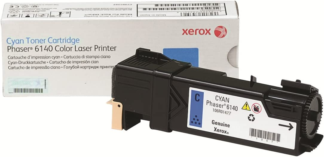 Xerox Phaser 6140 Cyan Standard Capacity Toner-Cartridge (2,000 Pages) - 106R01477