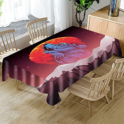 Mantel navideño,Mantel Rectangular Impermeable poliéster para Festivas navideñas para la mayoría de Las mesas de tu hogar 140 x 180cm