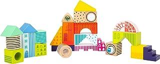 Small Foot 11748 byggstenar fantasivärld, 24 färgglada träbyggstenar för stapling, stapling och upptäckning, från 12 månad...