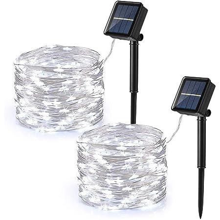 New Solar craquelé boule en verre bocal 20 Fairy String Lights Outdoor remise de jardin