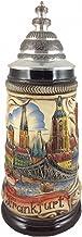 Zöller & Born German Beer Stein Frankfurt Panorama sten 0,5 liter tankard, ölmugg ZO 1755/906