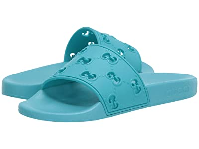 Gucci Kids Pursuit Sandal (Little Kid) (Bright Turquoise) Kid