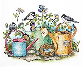 Dimensions Stamped Cross Stitch Kit, Watering Cans, 14