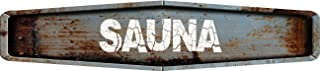 ANY AND ALL GRAPHICS Sauna Rustic Weathered Metal Look Diamond Shaped 4