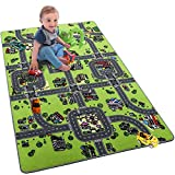 Softlife Kids Carpet Play Mat Rug Large 48' x 72' City Life Great for Playing with Cars Children Area Rugs for Bedroom Playroom Nursery