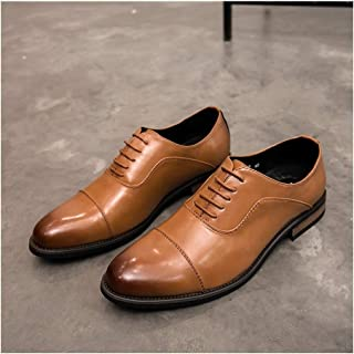 Color : Gray, Size : 10.5 M US Mens Fashion British Style Oxford Casual Classic Retro Brush Color Brogue Shoes CHENDX Shoes