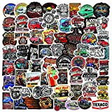 100 PCS Laptop Sticker Hot Rod Classic Car Theme Stickers Waterproof Vinyl Scrapbook Stickers Car Motorcycle Bicycle Luggage Decal