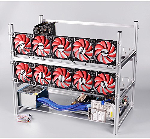 12 GPU mining rig frame – Aluminum, Stackable, Open air case