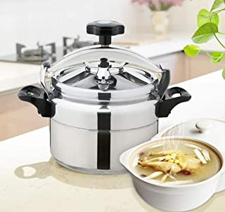 Stainless steel pressure cooker small multi-function boiler steamer soup pot for kitchen restaurant cooking suitable for gas stove household/commercial 3L-15L (Color : Silver, Size : 15L)